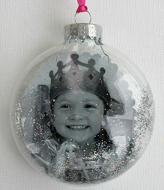 bola de navidad con foto.