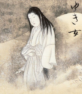 Public domain image of Yuki-onna courtesy of Wikipedia.org