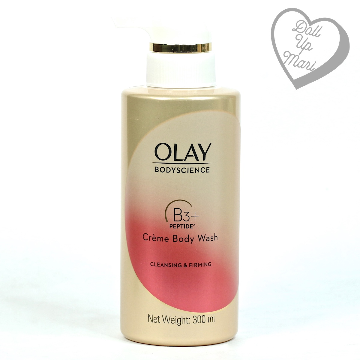 Olay BodyScience Crème Body Wash Cleansing and Firming with Peptide Pack Shot