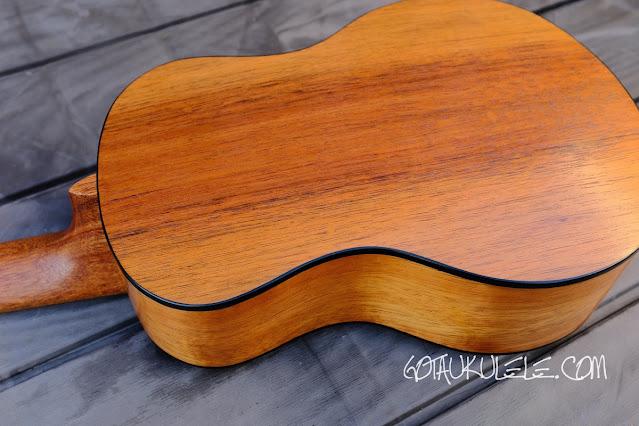 Kumu 4 string tenor ukulele back