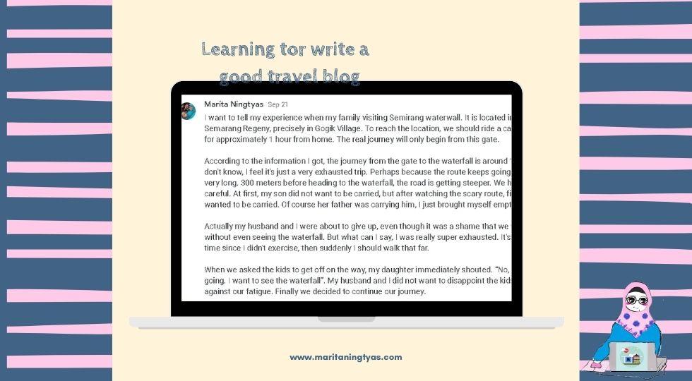 belajar menulis travel blog