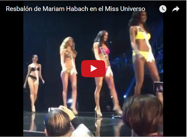 Se resbala Miss Venezuela y se convierte en Trending Tópic