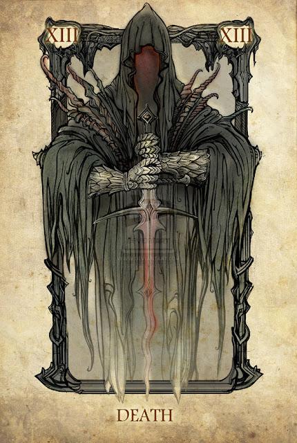Senhor dos anéis em cartas de tarô - Morte
