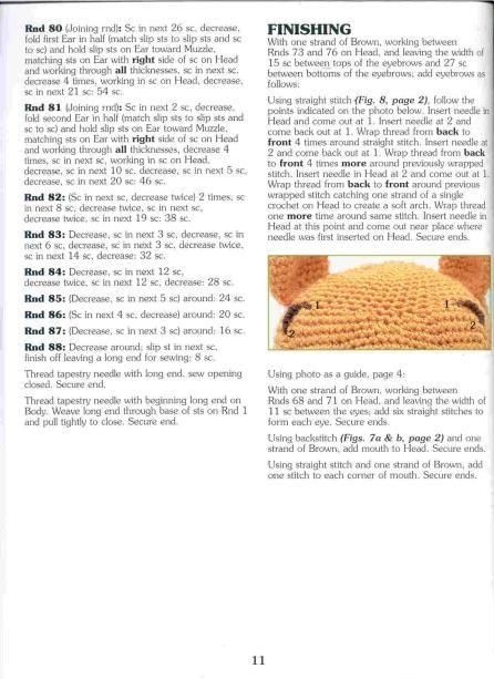 Receita grátis amigurumi do ursinho Teddy - Fio amigurumi da Círculo | 613x446
