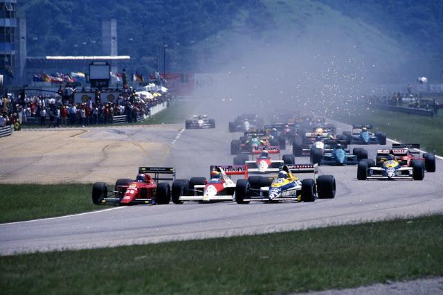 Acidente entre Senna, Berger e Patrese no GP Brasil 1989