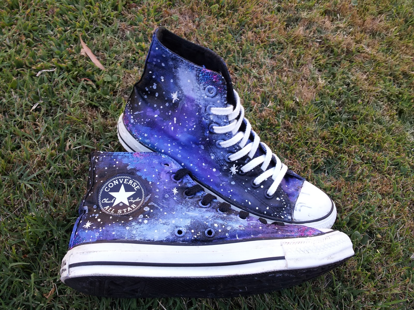 Galaxy Converse Shoes Diy