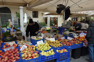 Pescia, Italy, fresh food markets