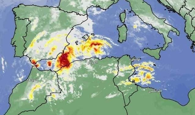 تحذير من المنخفض الجوي الذي تسبب في فيضانات الجزائر