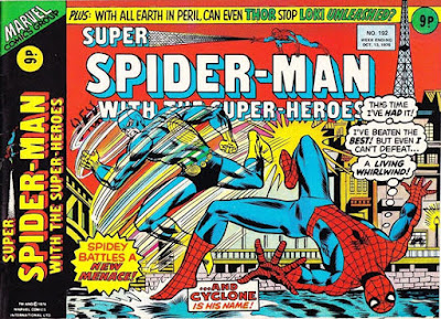 Super Spider-Man with the Super-Heroes #192, Cyclone