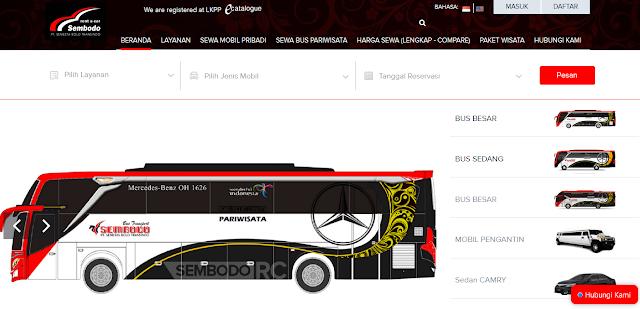 Rental Profesional Bus Pariwisata Jakarta Hanya di Sembodo Rentcar