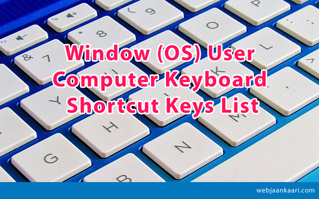 How-to-Window-Operating-System-Computer-Keyboard-Shortcut-Keys-list