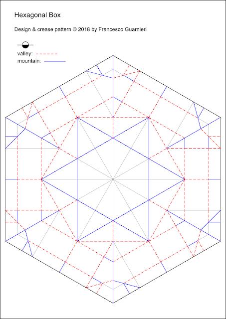 Crease Pattern per Hexagonx © by Francesco Guarnieri