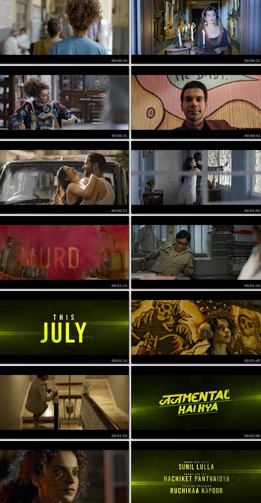Screenshots Of Hindi Movie Judgemental Hai Kya 2019 Trailer official 480P HD