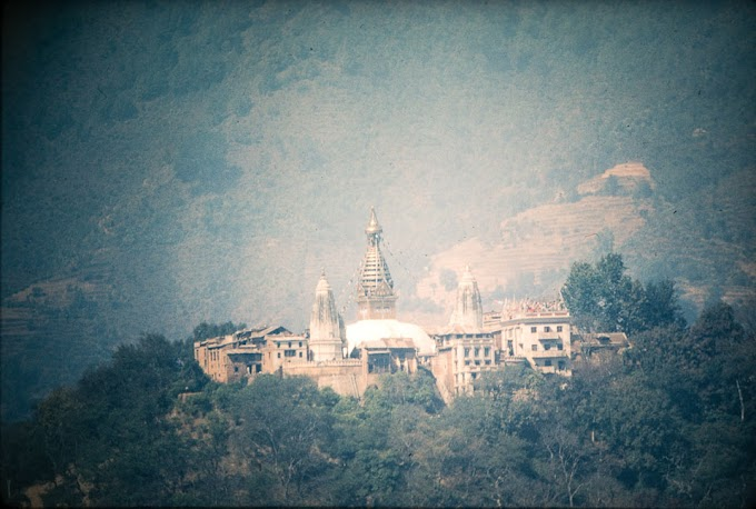 Old images of Swayambhunath hill during 1970