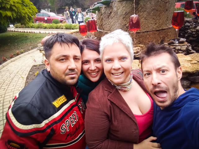 Cata, Alex, Petra & Marcel at Milestii Mici, Moldova