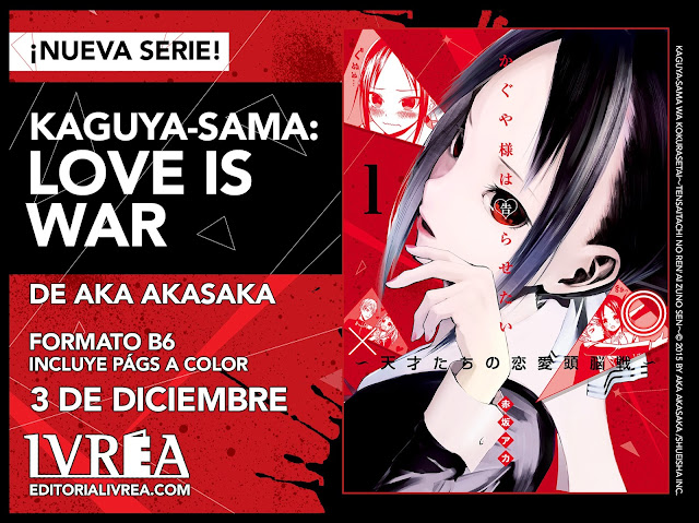 Kaguya-sama: Love is War licenciado por Ivréa.