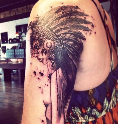 kadın omuz dövmeleri woman shoulder tattoos 21