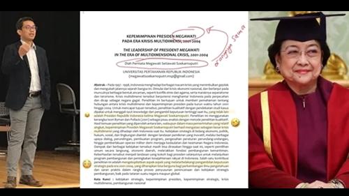Profesor Ini Corat-coret Paper Megawati, Ngetawain Ngatain Norak Pula