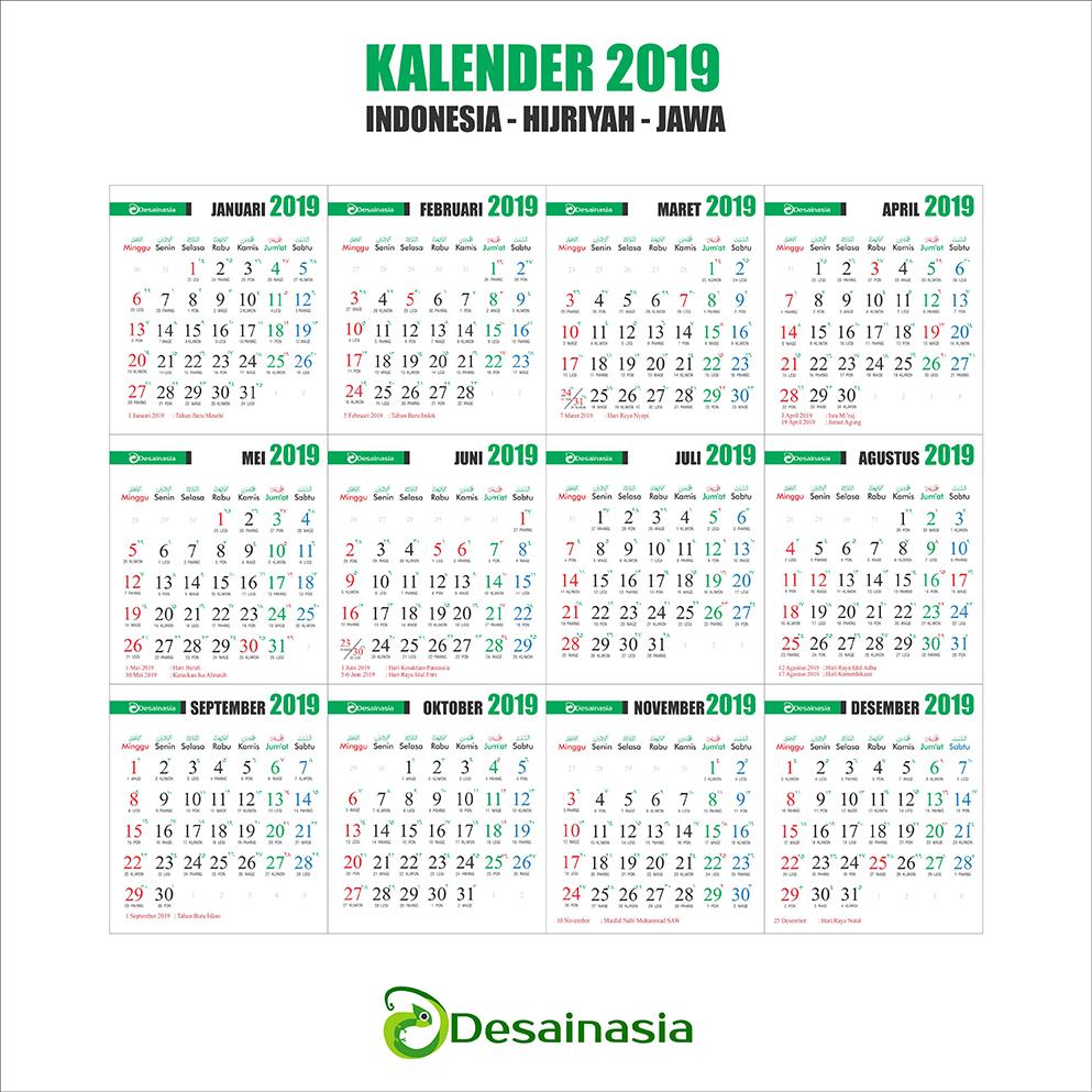 Download Kalender 2019 Jawa Lengkap