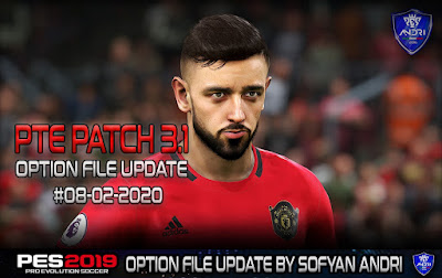 PES 2019 PTE Patch 2019 Option File Season 2019/2020