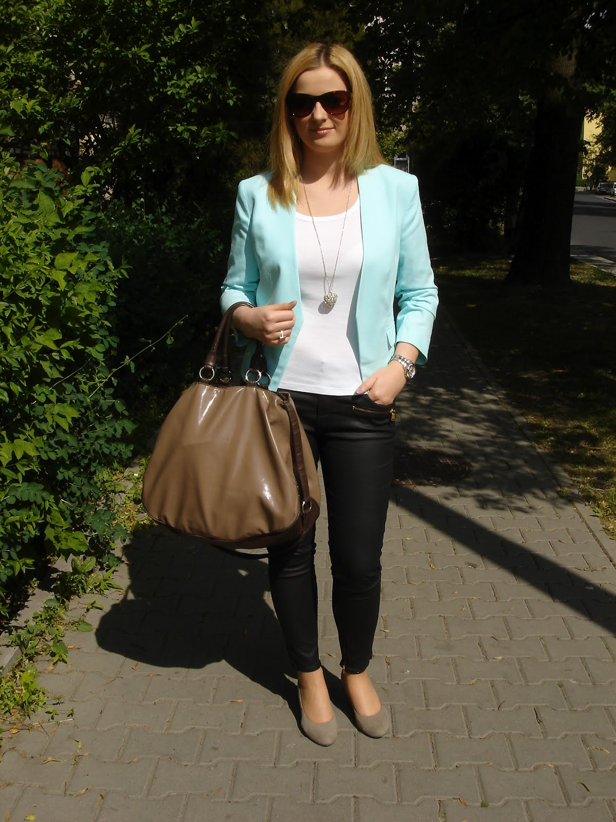 0466c62fa6443 AgneStyle: Miętowa marynarka
