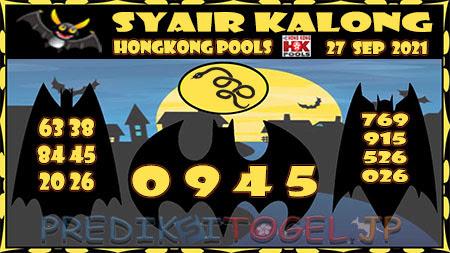 Kalong HK Senin 27 September 2021 -