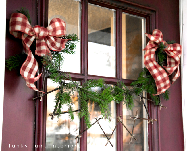 Chevron twig garland, via Funky Junk Interiors