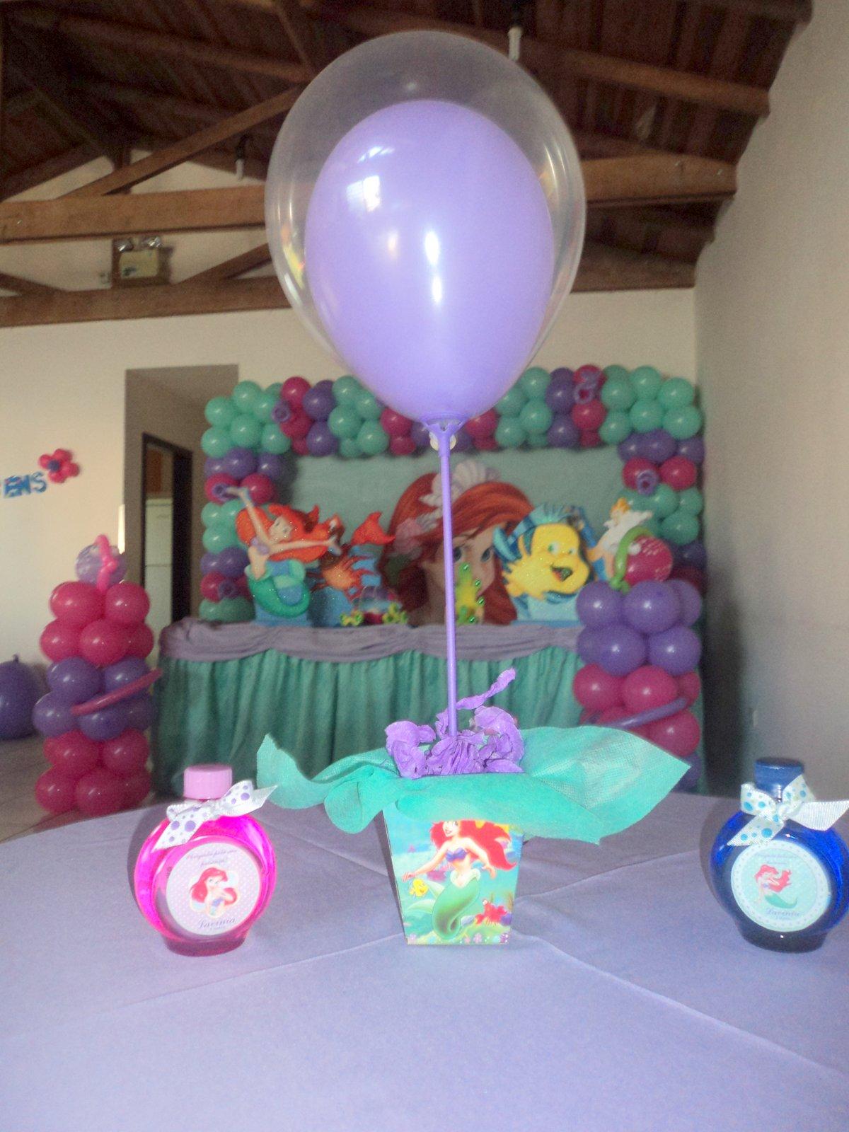 Brinque e arte decoraç u00e3o com balões DECORA u00c7ÃO TEMA ARIEL PEQUENA SEREIA
