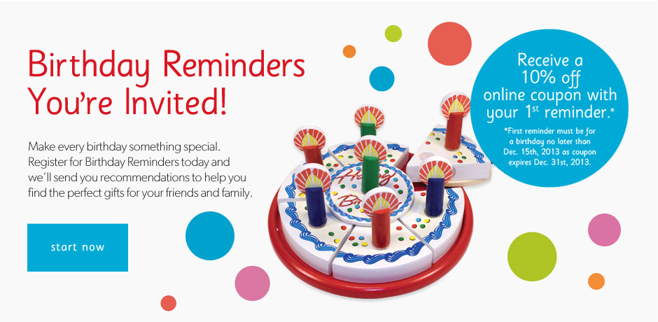 Reminder Cards Birthday Party