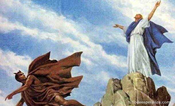 Jesús tentado por el diablo