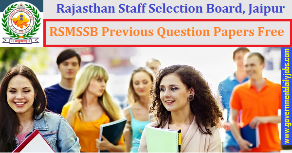 RSMSSB Previous Question Papers