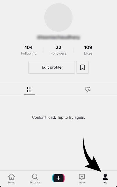 TikTok profile page