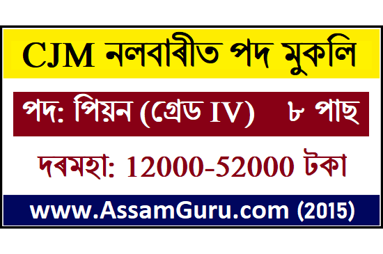 CJM Nalbari Job 02 Posts