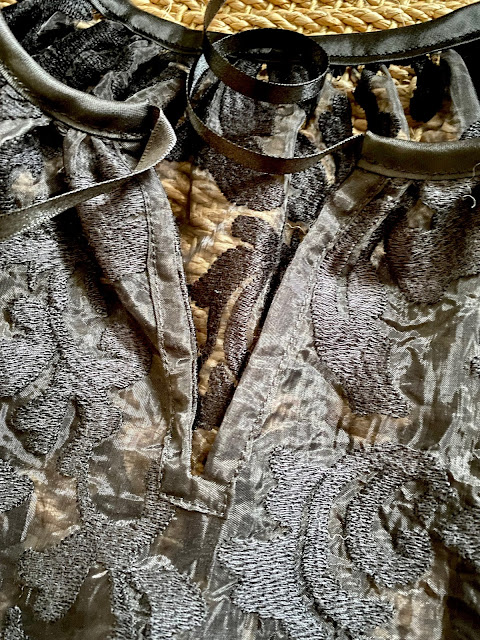 Diary of a Chain Stitcher: True Bias Roscoe Blouse in Embroidered Organza from The Fabric Store