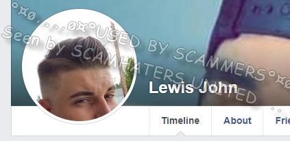 Facebook romance scammer profile