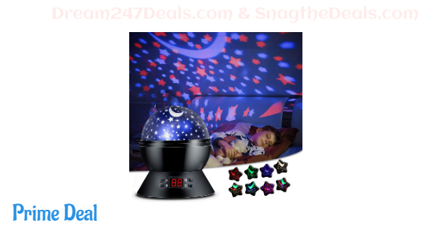 30% off Star Projector Night Light for Kids Bedroom Decor with Timer Setting, 8 Lighting Modes for Boys and Girls Gift - Black
