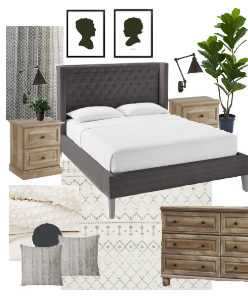 modern farmhouse bedroom mood board
