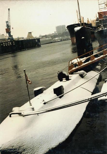 Remembranza del submarino BAP Arica, ida y vuelta a Alemania para mantenimiento y cambio de baterías.
