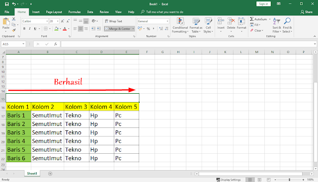 cara menghilangkan garis di excel open office