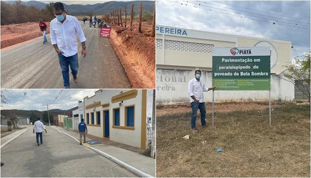 Prefeito de Piatã visita  obras nas comunidades de Bela Sombra e  Vereda Velha