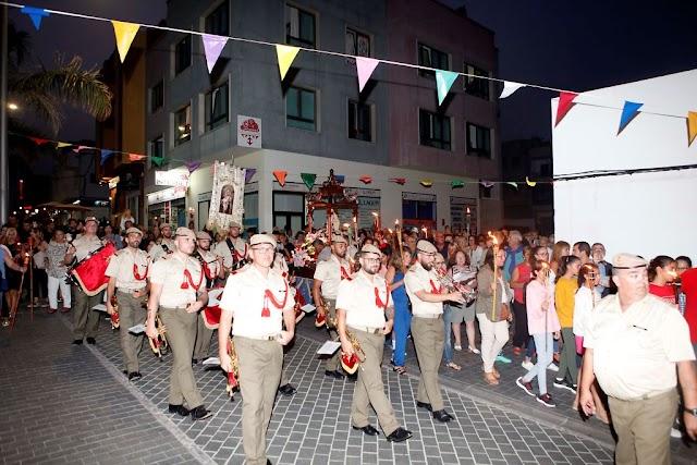 Fuerteventura.- En Corralejo la Procesión Nocturna de la Virgen del Carmen, un evento singular se celebra el 18 de Julio jueves