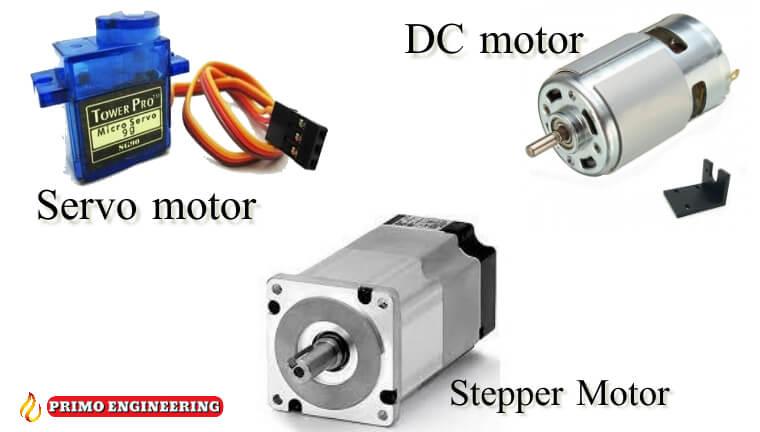 الفرق بين انواع المواتيرDC motor و Servo Motor و Stepper Motor