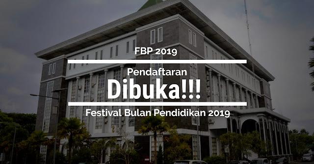 Pendaftaran Festival Bulan Pendidikan (FBP) 2019 DIBUKA!