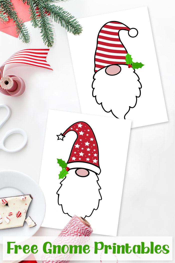 Free Christmas Gnomes Printables