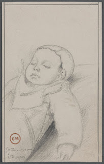Gustave Moreau, Etude pour un nouveau-né