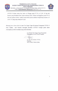 Press Release COVID-19 Tarakan 14 Juli 2020 - Tarakan Info