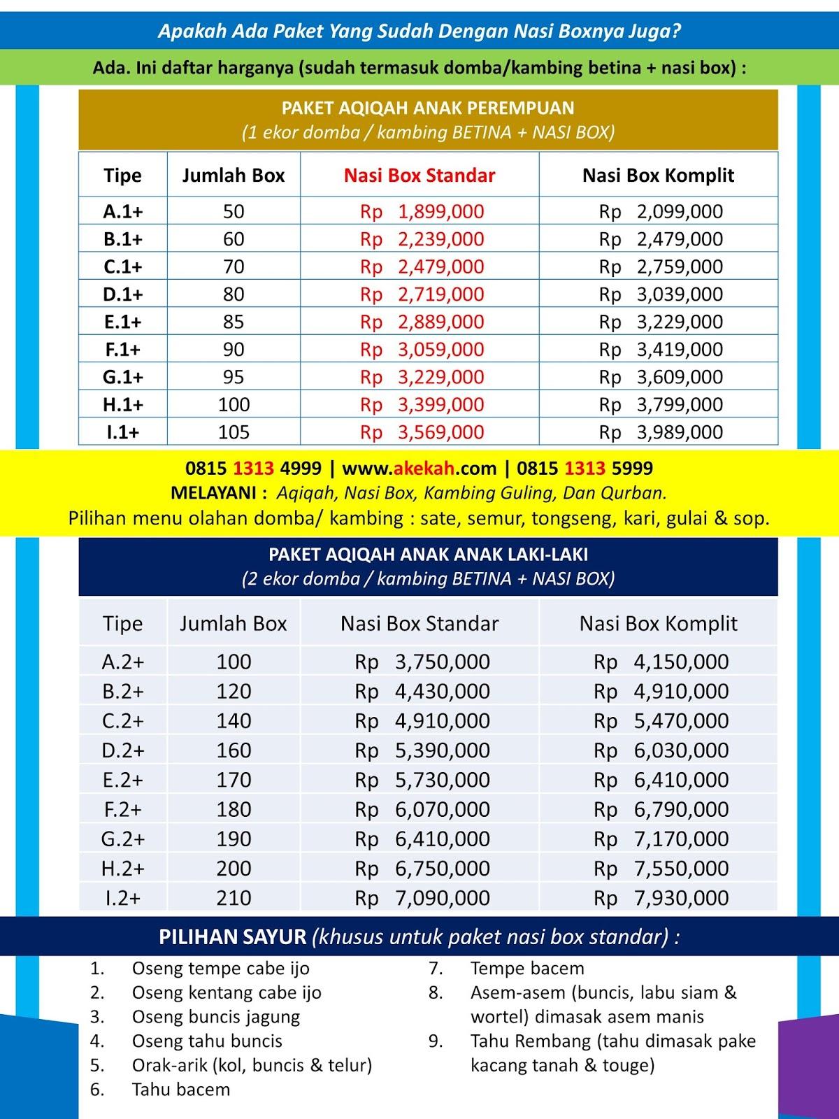 Harga Paket Akikah & Catering Murah Untuk Anak Wilayah Kecamatan Cibinong Kabupaten Bogor