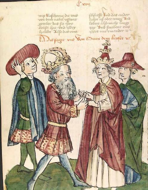 Othon I com o Papa João XII