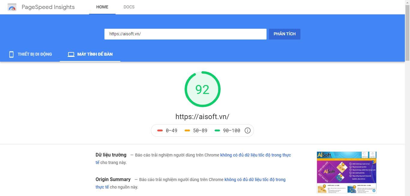 Công Cụ SEO Miễn Phí Google PageSpeed Insights