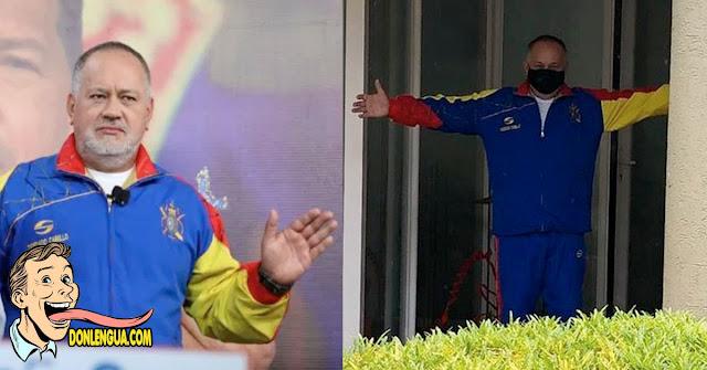 """Tania Díaz publicó una foto reciente de Diosdado Cabello haciendo """"El Cristo"""""""